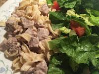 Chicken Pasta and Salad