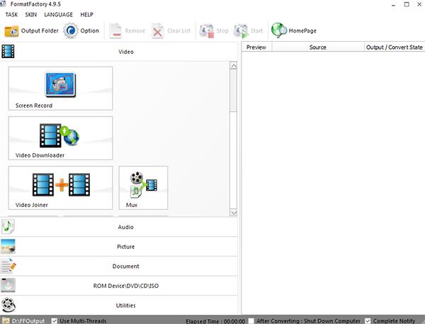 Download Format Factory - Phần mềm convert, đổi đuôi video mới nhất e