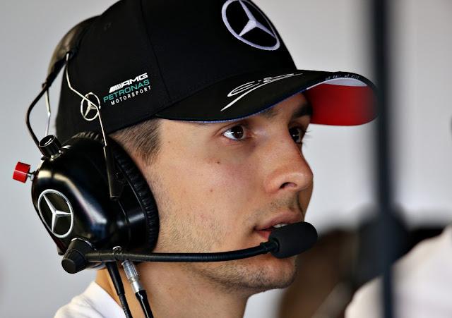 Esteban Ocon é piloto reserva da equipe Mercedes — Foto Getty Images