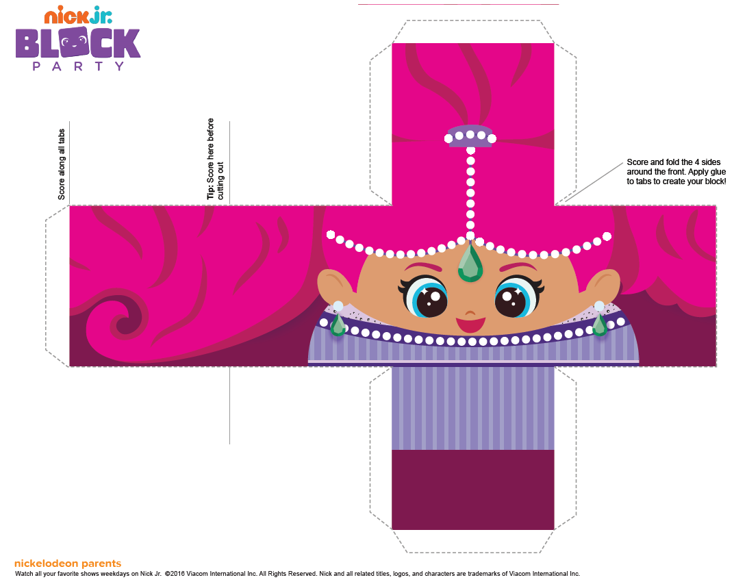 Shimmer And Shine Free Printable Cube Boxes