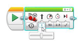 Mindstorms EV3 slider bar set to zero robot go straight