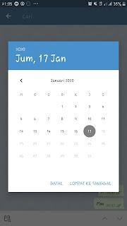 Bisa memilih tanggal untuk melihat chat dahulu