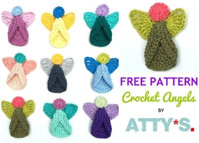 Angelitos de Navidad a crochet método en 3 pasos
