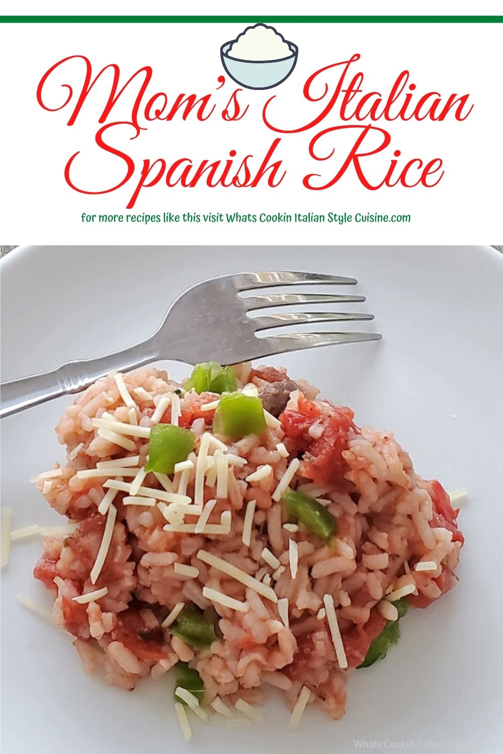 this is a pin for later how to make Spanish rice