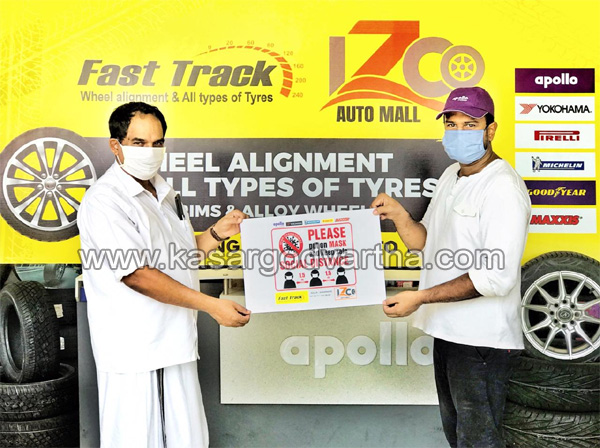 Kerala, News, Fast track tire show room covid prevention poster released