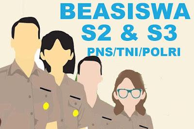 Beasiswa S2 dan S3 Untuk PNS/TNI/POLRI Tahun 2019