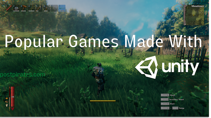 Popular games made with Unity game engine !!