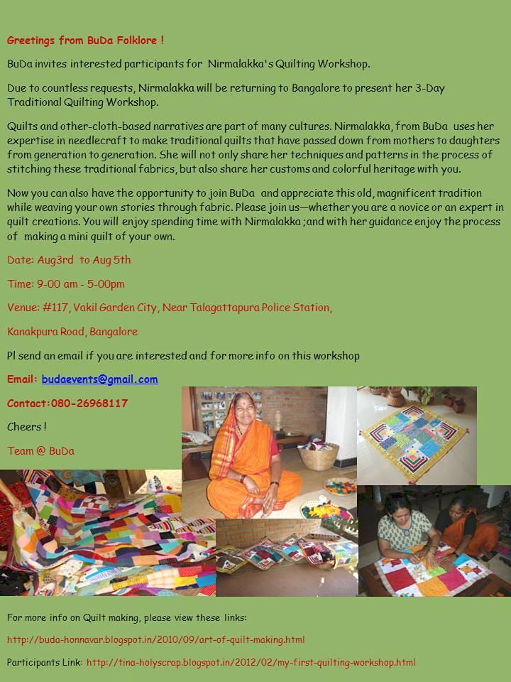 Buda folklore invitation hand quilting workshop 2012 invitation hand quilting workshop 2012 stopboris Choice Image