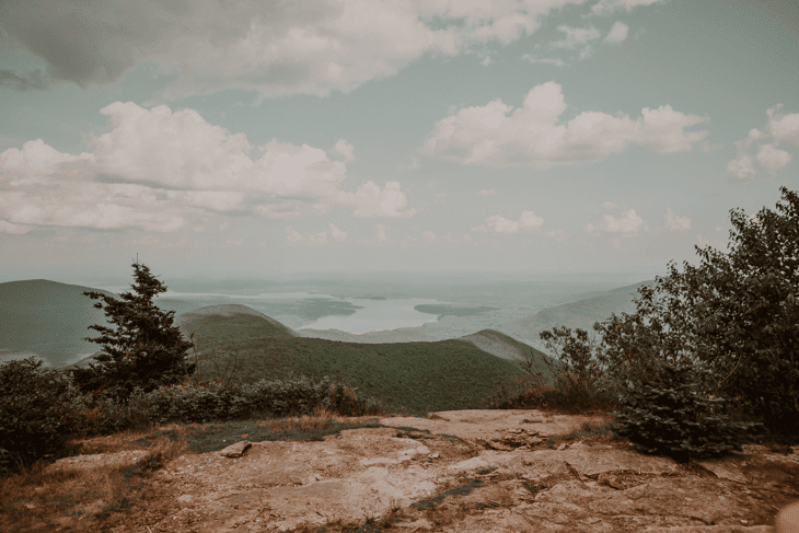Top of Mt. Wittenburg in the Catskills NY