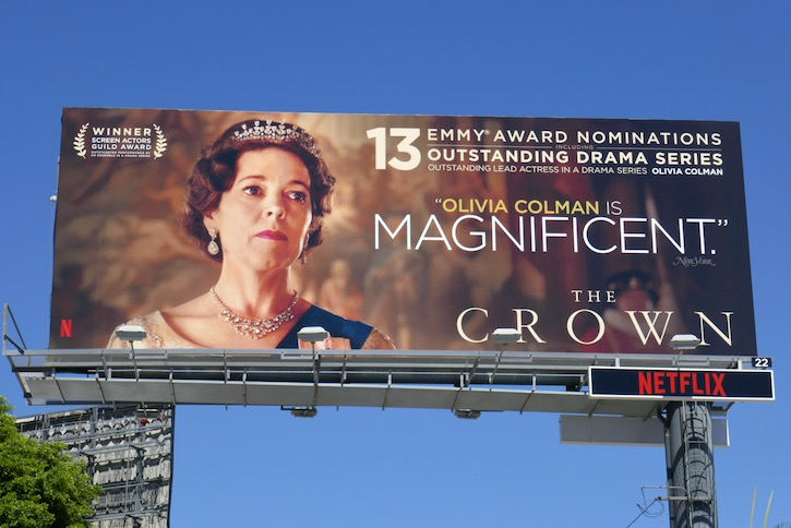 Olivia Colman Crown 2020 Emmy nominee billboard