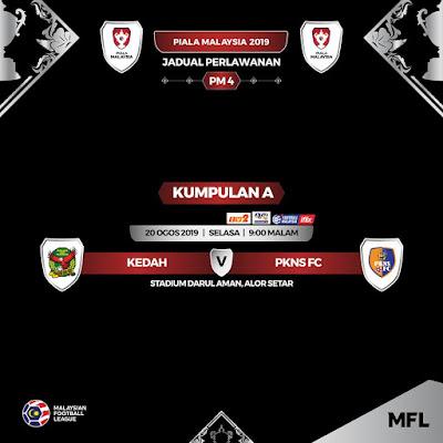 Live Streaming Kedah vs Pkns Piala Malaysia 20.8.2019