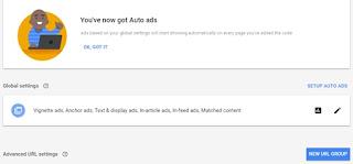 Iklan otomatis adsense berhasil dipasang