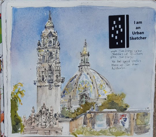 Sketching with visitors from Australia | Urban Sketchers