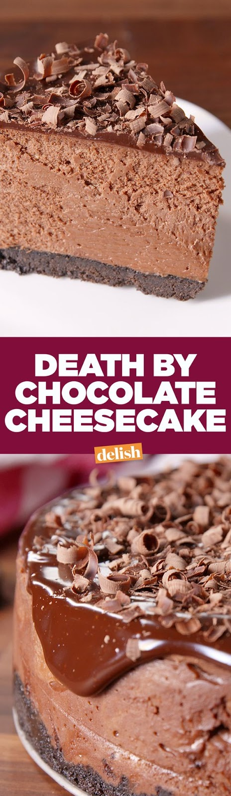 Death By Chocolate Cheesecake will be the star of every party.