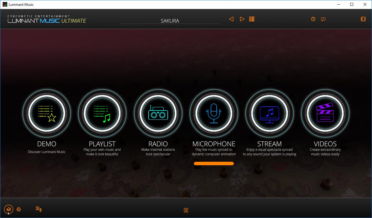 تحميل برنامج Luminant Music Ultimate Edition 2.2.0 لمزامنة مكتبة واسعة من مشاهد بصرية ثلاثية الأبعاد مع الموسيقى والأصوات.