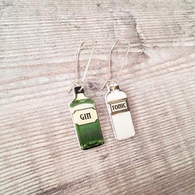 Gin and Tonic Drop Earrings