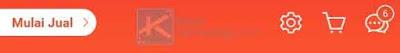 Klik ikon gerigi yang terdapat di bagian atas menu Saya.
