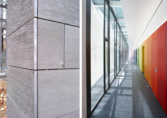 Sede Judicial Villaviciosa, Fachada ventilada de piedra de pizarra, Fachada tecnológica, Envolvente arquitectónica, Ciprés S.L, Ciprés Group