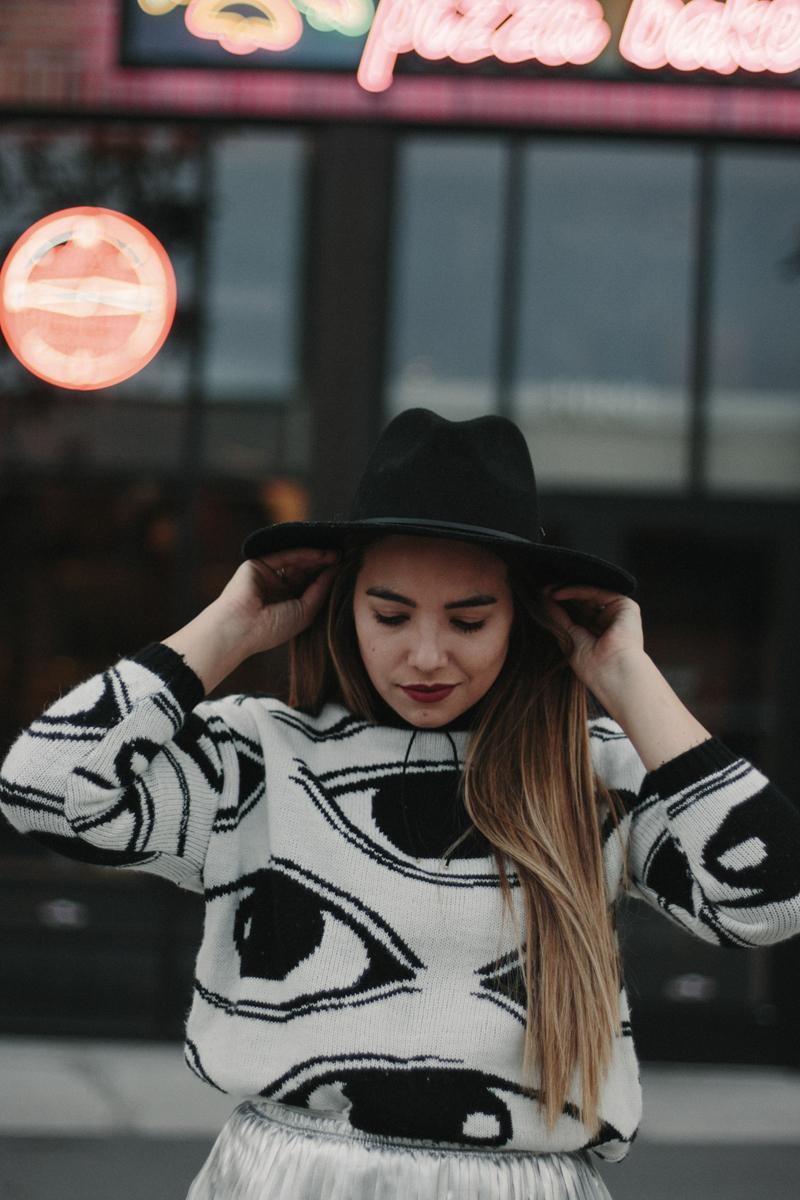 eye sweater, utah fashion blogger, sweater for winter