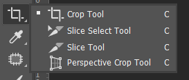 Crop dan Slice Tool Toolbox Adobe Photoshop