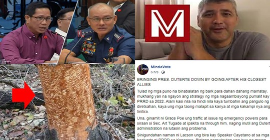 """MindaVote blogger Carlos Munda says issues like Poe vs Tugade & lately Magalong vs Albayalde """"demolition jobs"""" by people with 2022 ambitions? 