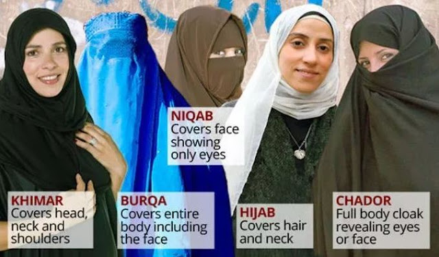 Khimar Burqa Hijab Cadar Chador Kerudung Jilbab