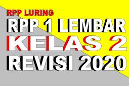 RPP 1 LEMBAR KELAS 2 TEMA 5 REVISI 2020 - RPP LURING