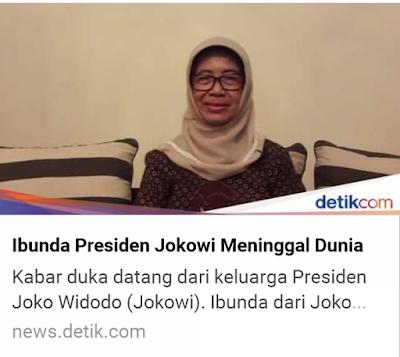 [BREAKING NEWS] Ibunda Jokowi Dodo Meninggal Dunia