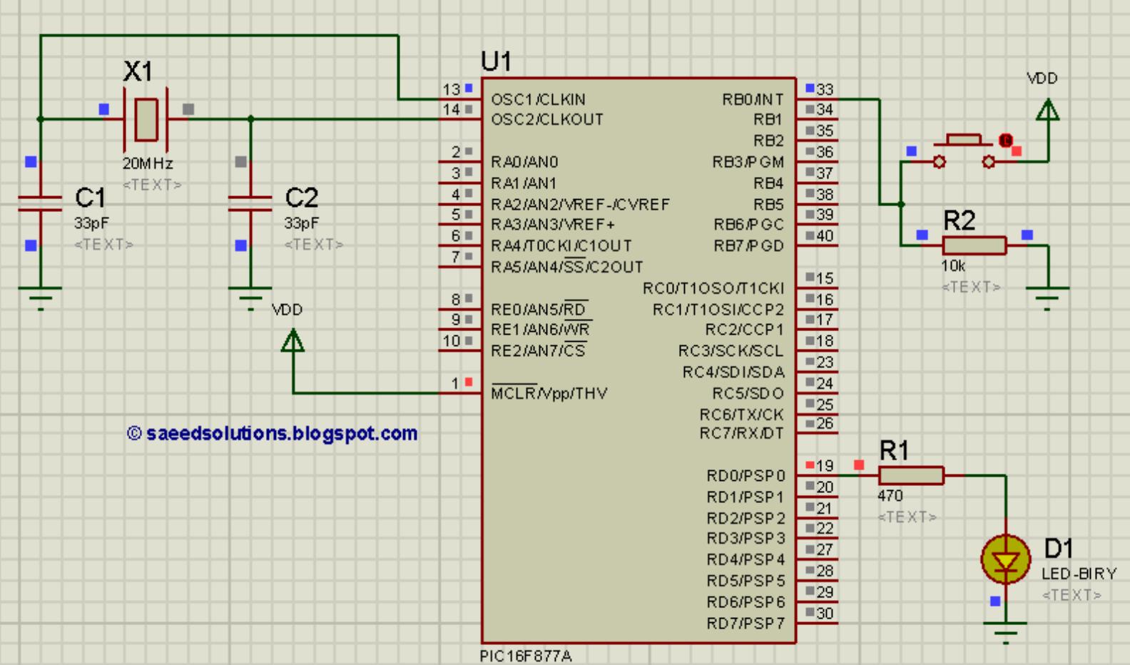 PIC16F877A UART code + Proteus simulation - ElectronicBeans