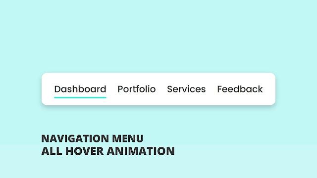 Naviagation Menu Hover Animation