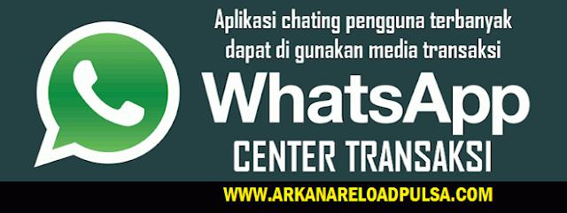 Cara Transaksi Arkana Pulsa Via WhatsApp