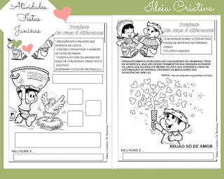 Atividades Festa Junina Educação Infantil para imprimir
