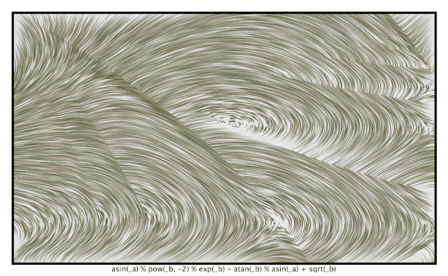 A generative art with my Processing code.