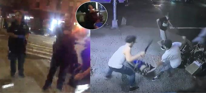 Dos policías se quedaron indiferentes mientras estudiante dominicano asesinado se desangraba en la acera
