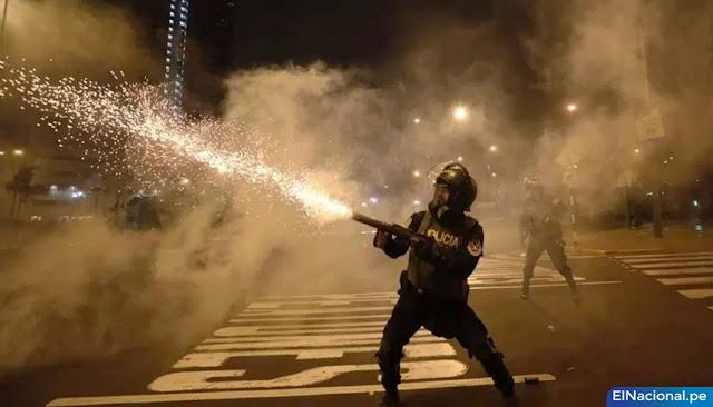 Policía Nacional agrede a manifestantes