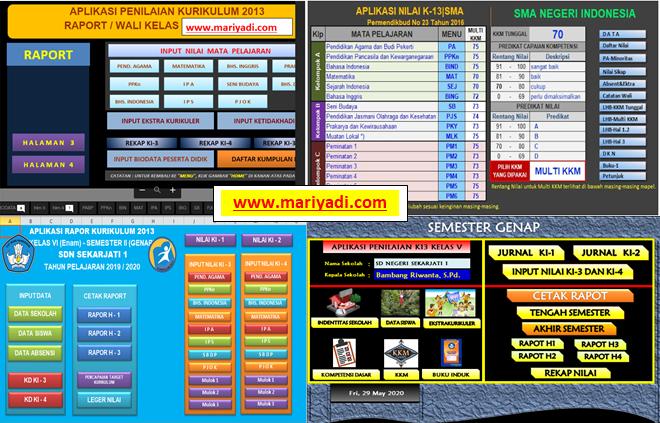 Download Aplikasi Raport K13 Sd Mi Smp Mts Sma Ma Smk Semester 1 Dan Semester 2 Revisi Terbaru Mariyadi Com