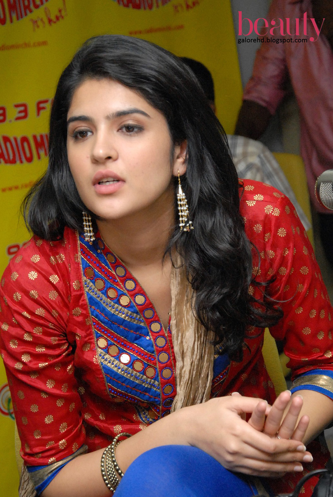 beauty galore hd : hot deeksha seth adorn in red rajasthani