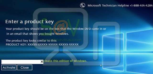 """""""Activate this edition of Windows"""" (Falso soporte)"""
