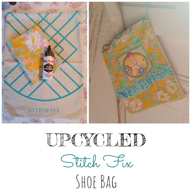 Upcycled Stitch Fix Shoe Bag + Giveaway Contest!
