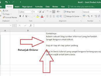 Cara Memberi Spasi Enter pada Cell Microsoft Excel