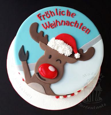 christmas cake reindeer rudolph moose