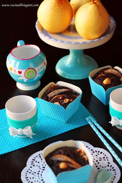 muffin cioccolato pere nocciole merenda