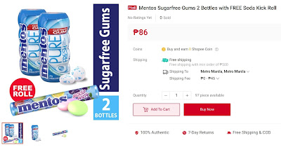 Mentos Sugarfree Gums