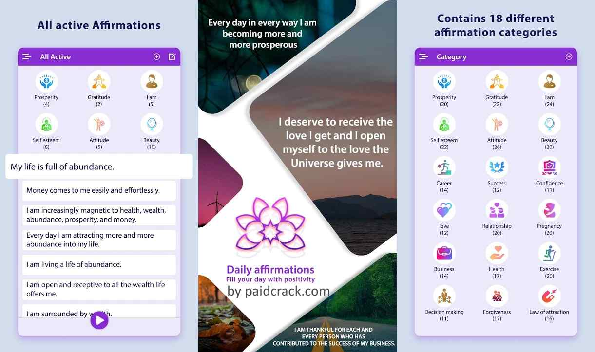 Daily Affirmations - Fill Your Day With Positivity Pro Mod Apk 1.8