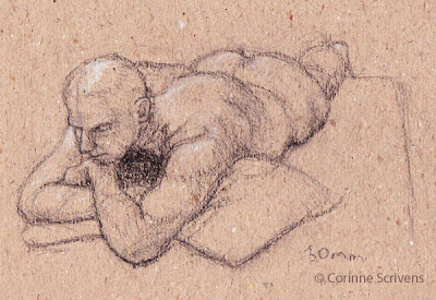 Life Drawing by Corinne Scrivens