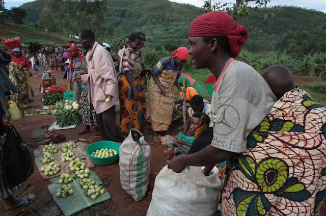 A day at market in Burundi Africa