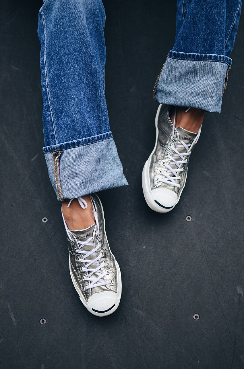 Metallic sneakers trend