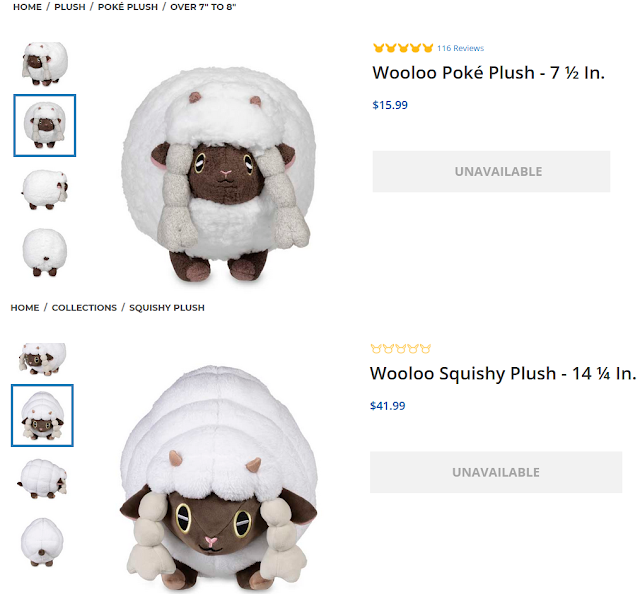Pokémon Center online store Wooloo Poké Squishy Plush Plushie sold out unavailable