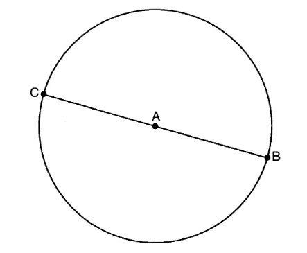 X why august 2016 common core geometry regents part 1 in the diagram below bc is the diameter of circle a ccuart Gallery