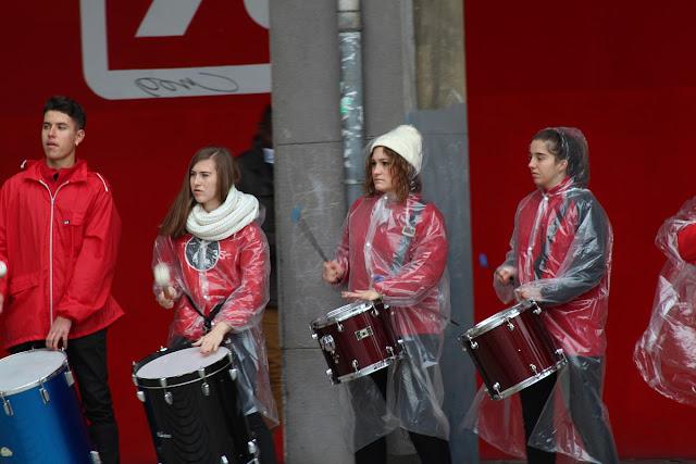 Grupo de percusión del conservatorio, en un acto de San Cecilia